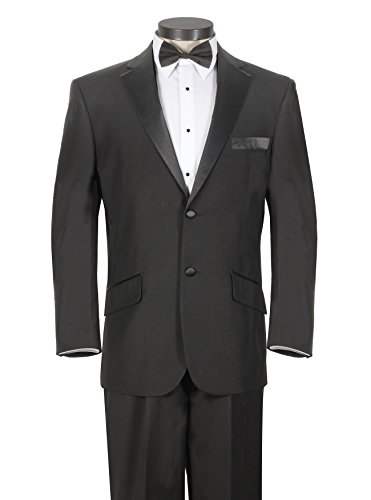 Black, 42 Long (Mens Black Tuxedo Jacket)