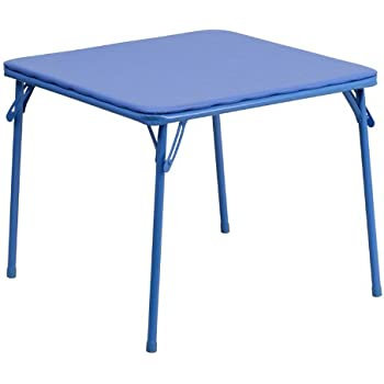 Awesome Flash Furniture Kids Blue Folding Table