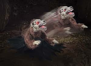 LUNGING MAD DEMON DOG Animated Halloween Animatronic Jumping Halloween Prop MR124237