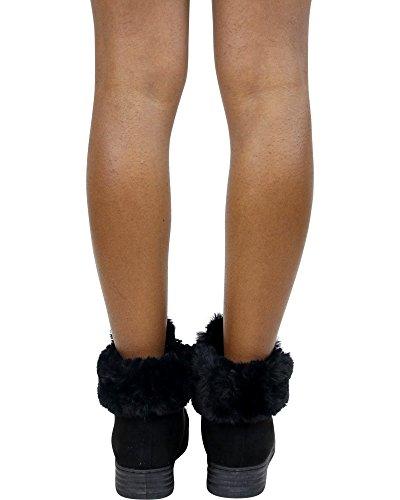 Golden Road Womens Ribbon Lace Up Bont Koude Weerlaars Zwart