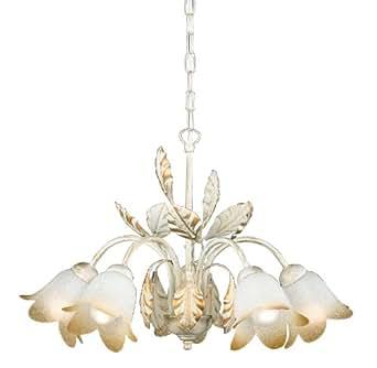 Honsel Leuchten Salerno 18865 - Lámpara de techo con brazos y cristales en forma de flor