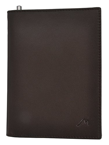 Field Notes/Moleskine Pocket Notebook Cover by Metier Life | Canvas with Vegan Leather | Fits Journals 3.5 X 5.5 | with Included Metier Life Notebook and Metier Pen (Vegan Leather Brown)