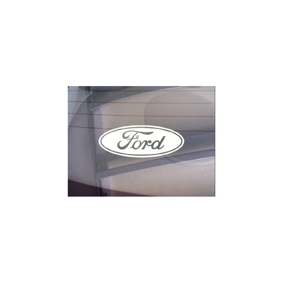 Ford Logo Car Window Vinyl Decal Sticker 5 Wide (Color White)