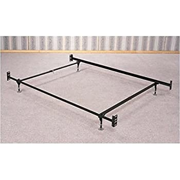 this item coaster bed frame rail for headboard and footboard with 5 legs and glides queen