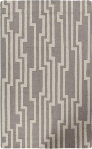 Candice Olson by Surya Market Place MKP-1012 Flatweave Hand Woven 100% Wool Flint Gray 2'6'' x 8' Geometric Runner