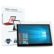 Tech Armor Microsoft Surface Pro (2017) and Surface Pro 4, HD Clear, Ballistic Glass Screen Protector, [1-pack]