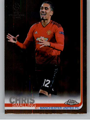 2018-19 2019 Topps Chrome UEFA Champions League #45 Chris Smalling Manchester United FC Soccer Trading Card