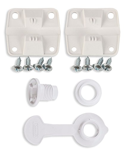 Coleman Ice Chest Cooler Replacement Plastic Hinges and Screws Set & Standard Drain Plug Assembly - 1'' Shaft Length Combo/Bundle (in Package by Main Event USA) by Coleman