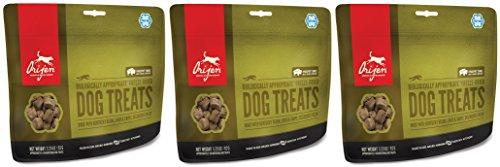 Freeze Dried Bison Treats - Orijen Freeze Dried Bison Dog Treats, 3.25 Ounces Per Pack (3 Pack)