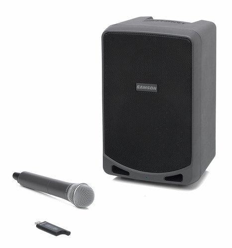 Samson Expedition XP106w Rechargeable Battery Powered Wireless PA with (Street Battery Powered Stereo Amplifier)