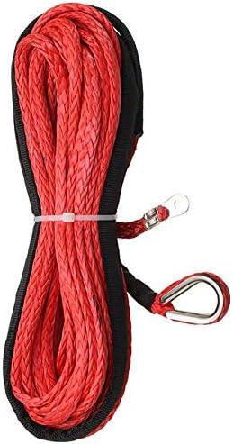 WOVELOT Cable en Corde Synth/éTique pour Treuil en Fibre Synth/éTique de 3//16 Po X 50 Po Gaine de 5500 LB pour ATV Utv 5 Mm X 15 M Noir Synth/éTique