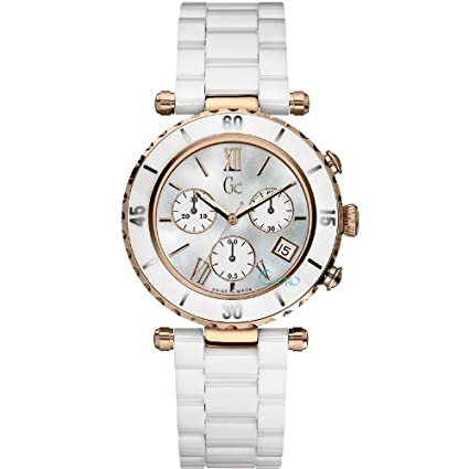 Guess Collection 34mm Stainless Steel Case Rose Gold Gold Plated Stainless Steel Synthetic Sapphire Women's Watch - X35015L4S