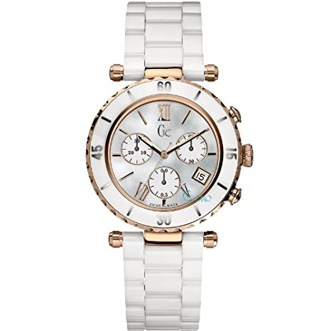 Guess Collection Diver Chic Analogue Mother of Pearl Dial Women's Watch - I47504M1S Women at amazon