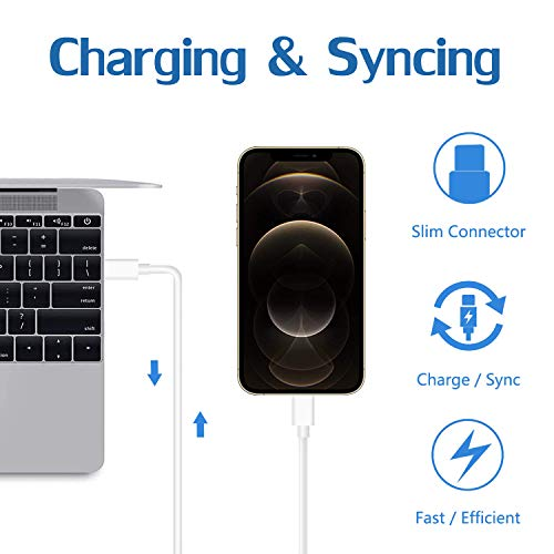 iPad Charger iPhone Charger, 12W USB Wall Charger Foldable Portable Travel Plug with 6FT Lightning Cable Compatible with iPhone 12/11/X/8/7, iPad, iPad Mini, iPad Air 1/2/3, iPad Pro 10.5 inch, iPod