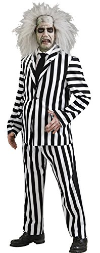 Deluxe Beetlejuice Costume - X-Large - Chest Size 44-46 ()