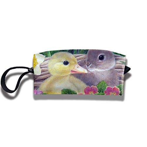 FRTSFLEE Pencil Bag Makeup Bag Easter Egg Basket House Women Cosmetic Bag Multifuncition Durable Pouch Zipper Organizer Bag