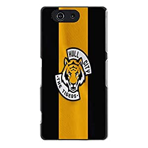 Classical Stripes Style Hull City Association Football Club Phone Case Solid Back Cover for Sony Xperia Z3 Compact / Z3 Mini FC Popular