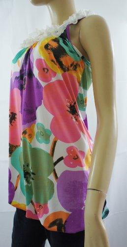 M&P FashionDamen T-Shirt Mehrfarbig White / Purple / Pink / Green (Floral) 49tczftE