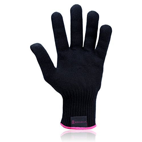 RoseMyst Professional Heat Resistant Glove for Hair Styling Heat Blocking for Curling, Flat Iron and Curling Wand Suitable for Left and Right Hands