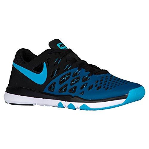 Nike Mens Train Speed 4 Training Shoe, Bleu industriel/bleu chlore/noir, 42.5 D(M) EU/8 D(M) UK