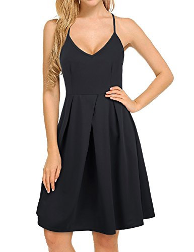 cross back black dress - 1