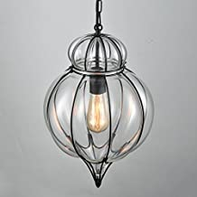 Room Decoration Glass Pendent Light Lantu Creative Industrial Art Wire Lamp for Bar and Dining Room Decoration