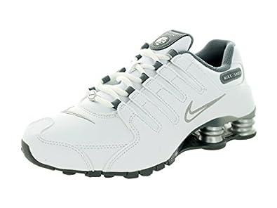 nike di donne shox nz ue scarpe lupo grigio / nero