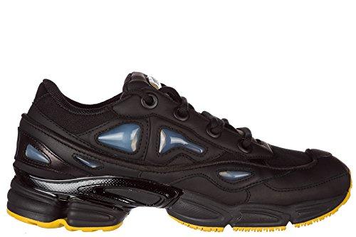 Y-3 Herrenschuhe Herren Leder Schuhe Sneakers RAF Simons Ozweego Schwarz