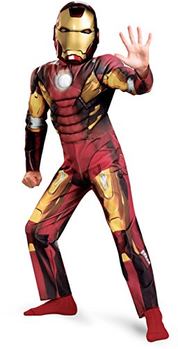 Avengers Iron Man Mark 7 Classic Muscle Costume, Red/Gold, Large -