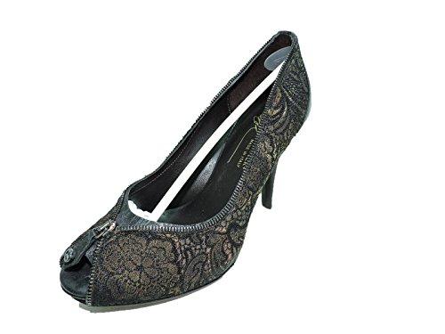 Donald J Pliner Womens Zeppellacu Black Lace Pumps 4