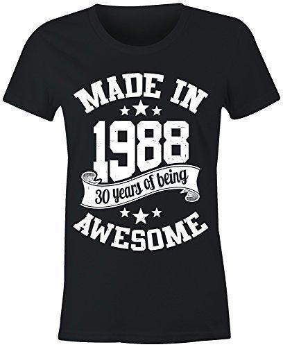 6TN Damen Hergestellt in 1988 30 Years of Being Toll T-Shirt: Amazon.de:  Bekleidung