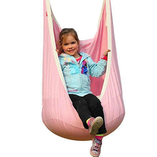 Children's pod Canvas Swing ChairHanging seat Hammock 100% Cotton Bag - Great for Tree, Swing Set, Backyard, Playground, Playroom