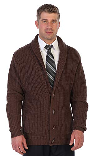 Gioberti Men's Toggle Button Cardigan Knitted Sweater, Brown X-Large ()