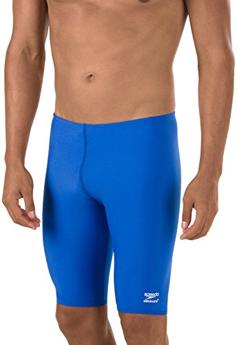 Speedo Men's Endurance+ Polyester Solid Jammer Swimsuit
