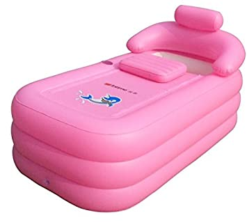 Intime Foldable Inflatable Thick Warm Adults Bathtub, Children ...