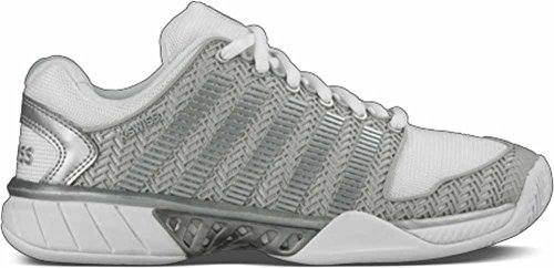 Court Womens Tennis Shoes (K-Swiss Women's Hypercourt Express Tennis Shoes (White/Silver) (8 B(M) US))