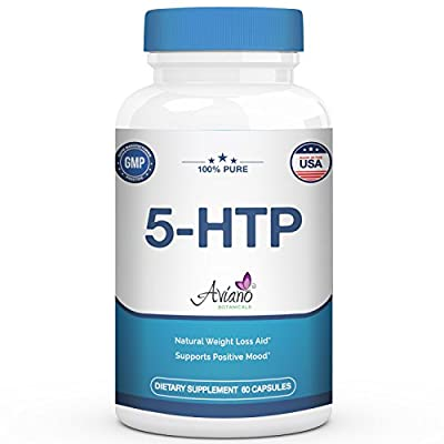 Premium 5-HTP Supplement 100 mg - Supports Weight Loss by Appetite Suppression, Aids in Positive Mood, Sleep, Stress, Relaxation by Aviano Botanicals