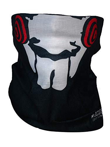 Icon Sportswear Themed Neck Gaiter, Balaclava, Neck Warmer, Face Mask Inspired by Hulk, Breaking Bad, Punisher, Stormtroopers, Guy Faux, Jigsaw, Man Beard and More! (Jig Saw) ()