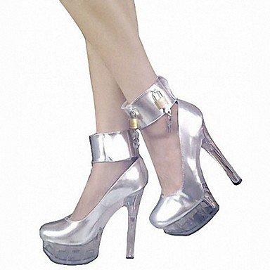 RTRY Zapatillas De Mujer &Amp; Flip-Flops Zapatillas Pvc Summer Party &Amp; Noche Crystal Stiletto Talón Ruby Negro Blanco 5En &Amp; Más US8 / EU39 / UK6 / CN39
