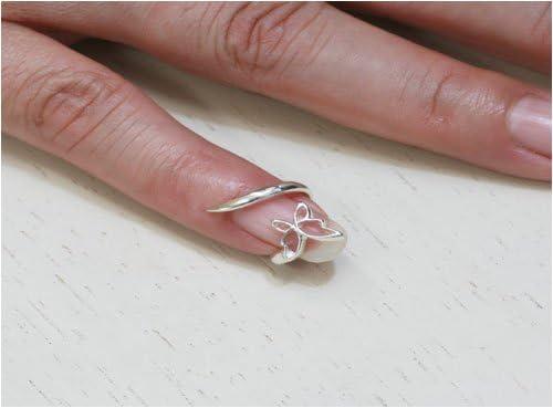 可愛いバタフライ・蝶々モチーフのネイルリング登場 貴女のネイルを美しく飾るネイルリング フリーサイズでどの指にも