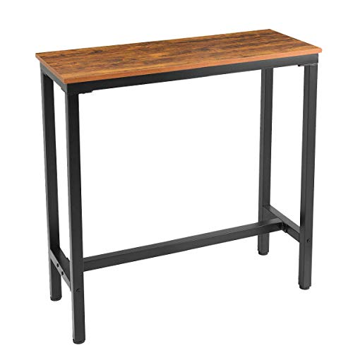 "Mr IRONSTONE 39.4"" Bar Table Vintage Industrial Pub Dining Height Table Bistro Table (Indoor USE ONLY)"