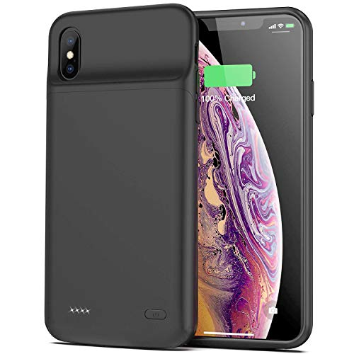 Battery Case for iPhone X/XS/10, 4100mAh Slim Portable Protective Charging Case Extended Rechargeable Battery Pack for iPhone X/XS/10 (5.8 inch) Charger Case-(Black)