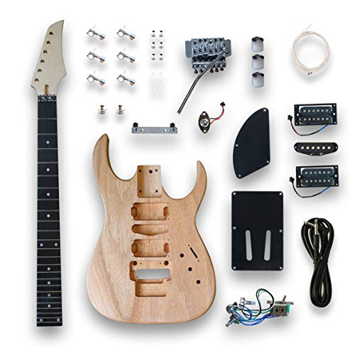 DIY Electric Guitar Kits for GRS Style Guitar, okoume wood Body