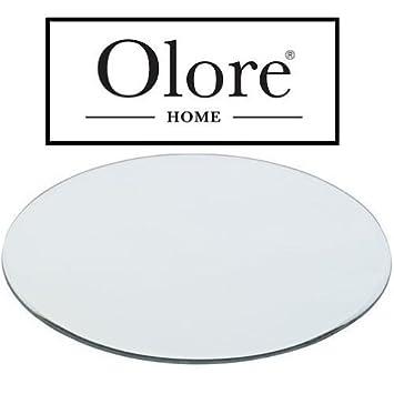 Round Mirror Plate 30cm: Amazon.co.uk: Kitchen & Home