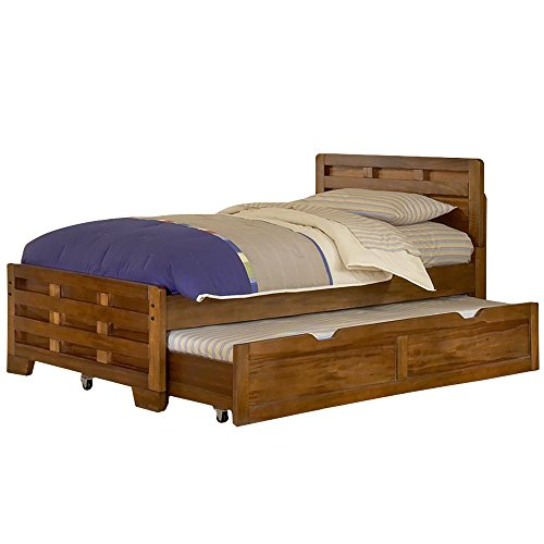 American Woodcrafters Heartland Full Captain's Bed with Trundle (Hardwood Full Captains Bed)