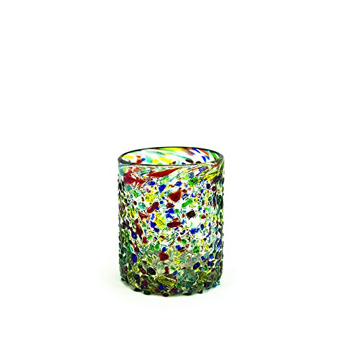 - Bambeco Confetti Hand-Crafted Blown Recycled Glass 12 oz Tumbler (1 Peice)
