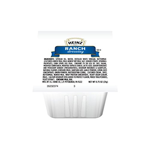 Heinz Ranch Dressing, 0.75 oz. pack, Pack of 100