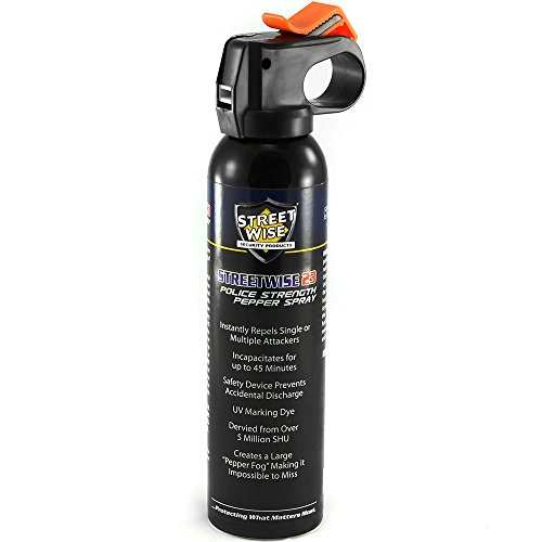 Streetwise 23 Fire Master UV Dye 5 Million SHU 9 oz Pepper Fog with Safety Top by Streetwise Security Products