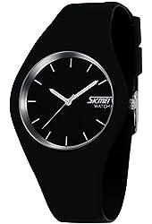 CakCity Sport Watches Unisex Casual Wrist Womens Watch Analog Quartz Waterproof Fashion Mens Watch Black