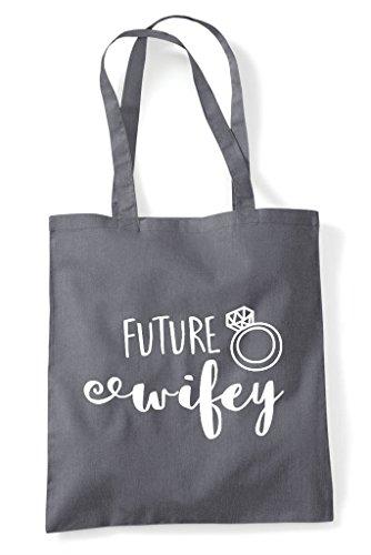 Bag Future Grey Shopper Engagement Wifey Dark Statement Announcement Tote wT8xFTnXrq